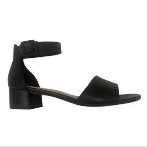 CLARKS Black Elisa Dedra Leather Sandal